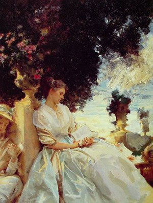 Reproduction oil paintings - Sargent - In a Garden: Corfu