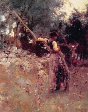 Reproduction oil paintings - Sargent - A Capriote