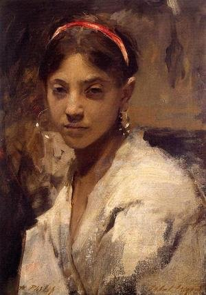 Reproduction oil paintings - Sargent - Head of a Capri Girl