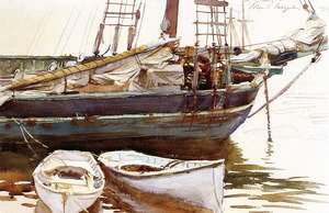 Reproduction oil paintings - Sargent - Schooner, Catherine, Somesville, Maine