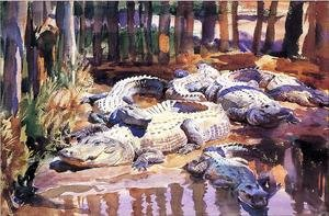 Reproduction oil paintings - Sargent - Muddy Aligators