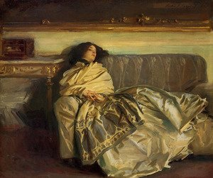 Reproduction oil paintings - Sargent - Repose