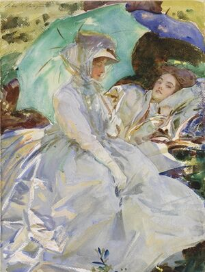 Reproduction oil paintings - Sargent - Simplon Pass: Reading