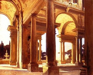 Famous paintings of Fountains: A Study of Architecture, Florence