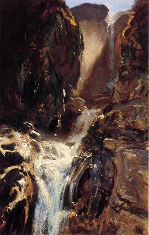 Reproduction oil paintings - Sargent - A Waterfall
