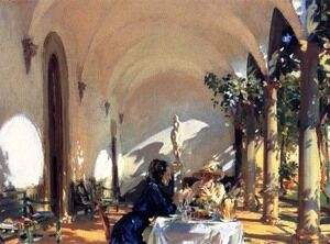 Reproduction oil paintings - Sargent - Breakfast in the Loggia