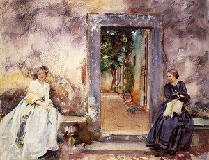 Reproduction oil paintings - Sargent - The Garden Wall