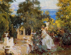 Reproduction oil paintings - Sargent - A Garden in Corfu