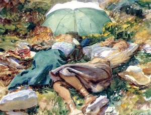 Reproduction oil paintings - Sargent - A Siesta