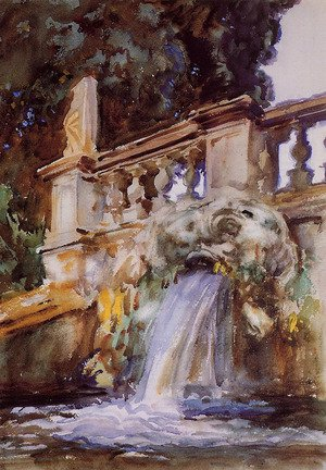 Famous paintings of Fountains: Villa Torlonia, Frascati