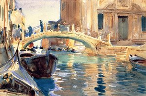 Reproduction oil paintings - Sargent - Ponte San Giuseppe di Castello, Venice