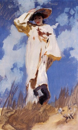 Reproduction oil paintings - Sargent - A Gust of Wind