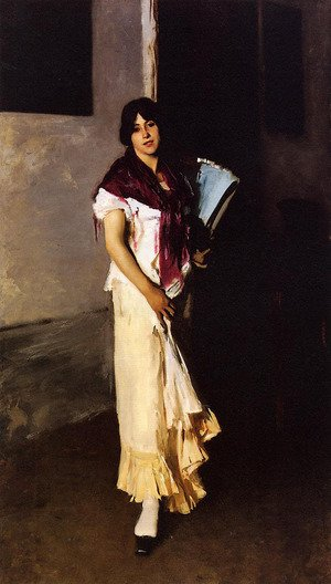 Reproduction oil paintings - Sargent - Italian Girl with Fan