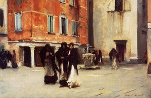 Reproduction oil paintings - Sargent - Leaving Church, Campo San Canciano, Venice