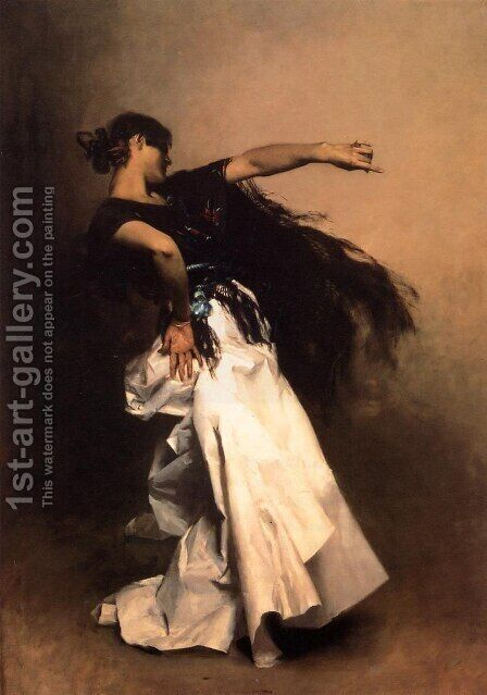 Spanish Dancer by Sargent - Reproduction Oil Painting