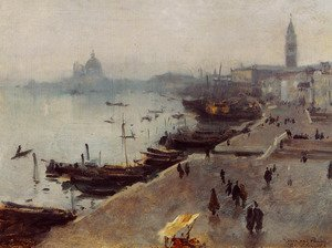 Reproduction oil paintings - Sargent - Venice in Gray Weather