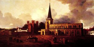 Reproduction oil paintings - Thomas Gainsborough - St. Mary's Church, Hadleigh