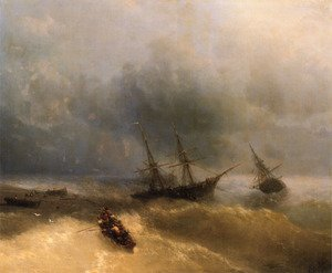 Reproduction oil paintings - Ivan Konstantinovich Aivazovsky - The Shipwreck