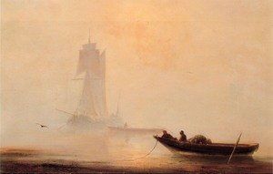 Reproduction oil paintings - Ivan Konstantinovich Aivazovsky - Fishing Boats In A Harbor