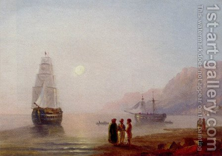 A Conversation On The Shore, Dusk by Ivan Konstantinovich Aivazovsky - Reproduction Oil Painting