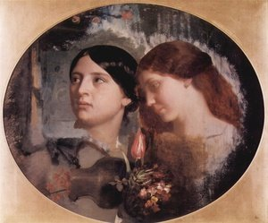 Reproduction oil paintings - Charles-Gabriel Gleyre - Two Women with a Bouquet of Flowers