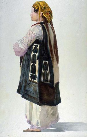 Reproduction oil paintings - Charles-Gabriel Gleyre - Albanian Peasant, Athens