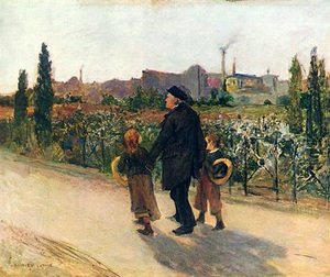 Reproduction oil paintings - Jules Bastien-Lepage - All Souls' Day