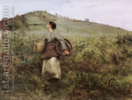 At Harvest Time by Jules Bastien-Lepage - Reproduction Oil Painting