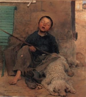 Reproduction oil paintings - Jules Bastien-Lepage - The Blind Beggar