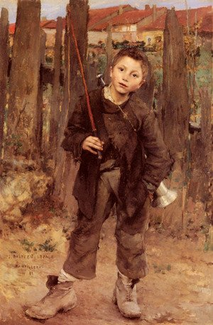 Reproduction oil paintings - Jules Bastien-Lepage - Pas Meche (Nothing Doing)