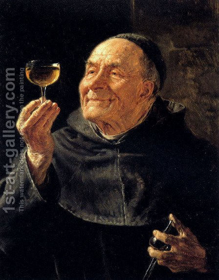 Eduard Von Grutzner: A Good Drink - reproduction oil painting