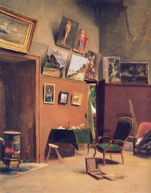 Reproduction oil paintings - Frederic Bazille - Studio in the rue de Furstenberg