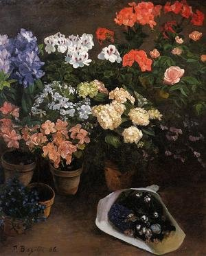 Reproduction oil paintings - Frederic Bazille - Study Of Flowers