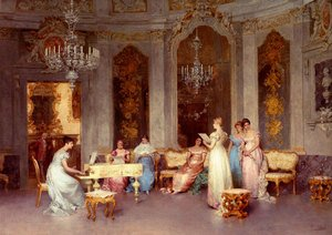 Famous paintings of Furniture: Parlor Scene