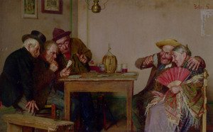 Famous paintings of Card Games: A Good Hand