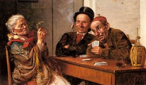 Famous paintings of Card Games: The Player's Choice