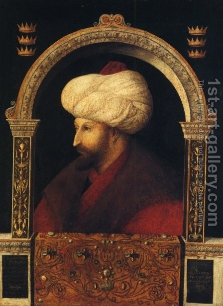 Sultan Mehmet II. by Giovanni Bellini - Reproduction Oil Painting