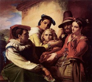 Reproduction oil paintings - Francois-Joseph Navez - The Fortune Teller