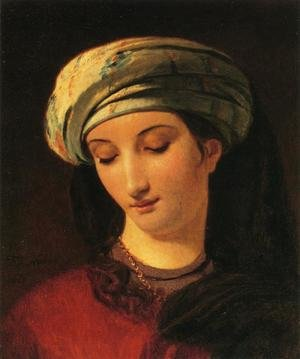 Reproduction oil paintings - Francois-Joseph Navez - Portrait of a Woman with a Turban