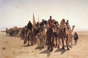 Famous paintings of Camels: Pelerins allant à La Mecque (Pilgrims Going to Mecca)