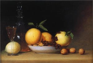 Reproduction oil paintings - Raphaelle Peale - Still Life with Liqueur and Fruit