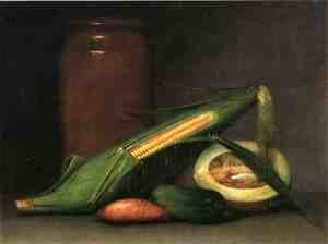 Reproduction oil paintings - Raphaelle Peale - Corn and Canteloupe