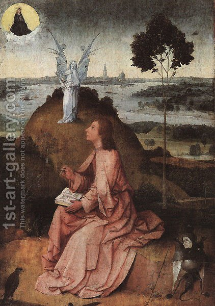 St. John on Patmos by Hieronymous Bosch - Reproduction Oil Painting