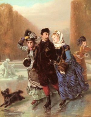 Famous paintings of Ice skating: La Preferee