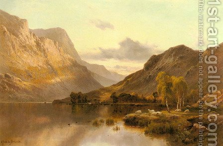Near Dunkeld by Alfred de Breanski - Reproduction Oil Painting