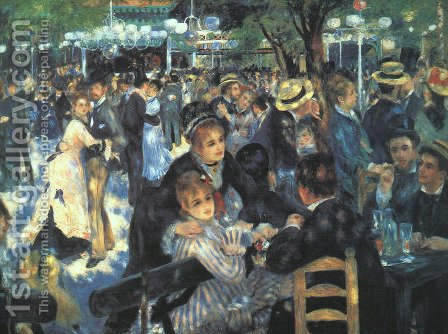 The Ball at the Moulin de la Galette by Pierre Auguste Renoir - Reproduction Oil Painting