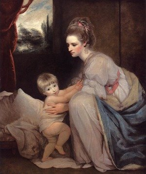 Reproduction oil paintings - Sir Joshua Reynolds - Portrait Of The Hon. Mrs. William Beresford