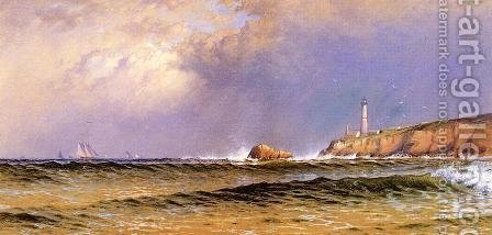 Coastal Scene with Lighthouse by Alfred Thompson Bricher - Reproduction Oil Painting