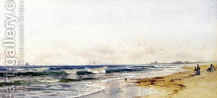 Far Rockaway Beach by Alfred Thompson Bricher - Reproduction Oil Painting