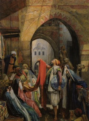 Famous paintings of Markets: A Cairo Bazaar - The Della 'l'